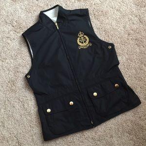 LIKE NEW Ralph Lauren black white reversible vest